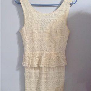 White Crochet Dress (graduation or homecoming)